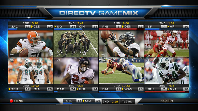DIRECTV NFL Sunday Ticket Game Mix