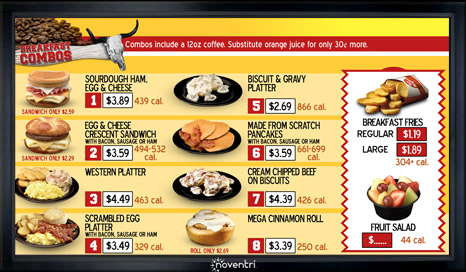 Digital Menu Board Single