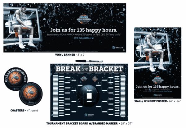 DIRECTV MVP Marketing NCAA Basketball March Madness Promotional Kit