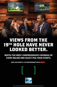 DIRECTV MVP Marketing Golf Poster