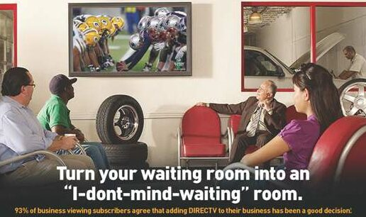 DIRECTV, DIRECT TV or DIRECTTV - DIRECV for Business. Turn your waiting room into and I dont mind waiting room