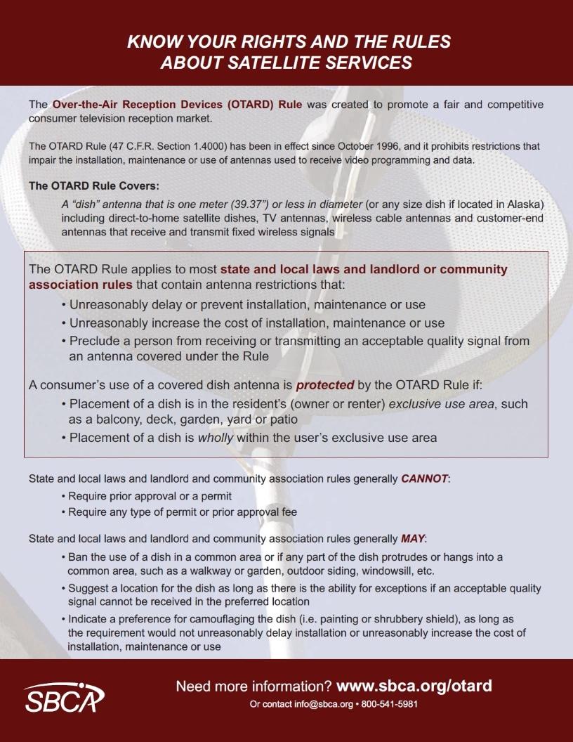 SBCA OTARD Rules