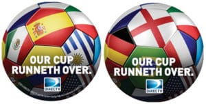 DIRECTV World Cup Soccer Promotions Coasters
