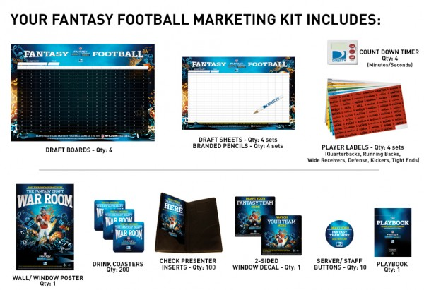 DIRECTV Fantasy Football Draft Marketing Kit