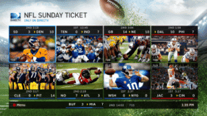 NFL Sunday Ticket Mix Channel Only on DIRECTV