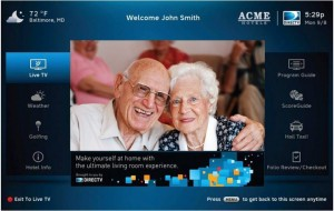 DIRECTV Residential Experience Welcome Screen System for Assisted Living, Senior Care and Long-term Care Facilities