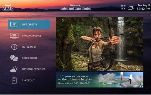 DIRECTV Guest Welcome Screen Pro