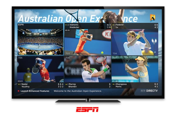 Australian Open Experience Exclusively on DIRECTV Tennis - Exclusive Coverage of PGA Golf and Grand Slam Tennis for Bars & Restaurants