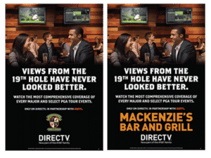 DIRECTV MVP Marketing Customizable Golf Poster