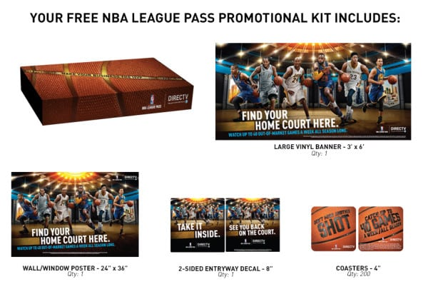FREE NBA LEAGUE PASS MARKETING KIT from DIRECTV MVP Marketing