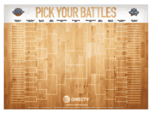 DIRECTV For BUSINESS NCAA Tournament Bracket Poster - March Madness