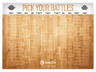 DIRECTV For BUSINESS NCAA Tournament Bracket Poster - March Madness ATT sucks