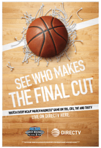 DIRECTV for BUSINESS NCAA Tournament Poster - March Madness 2016