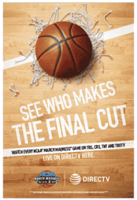 DIRECTV for BUSINESS NCAA Tournament Poster - March Madness 2016 ATT sucks