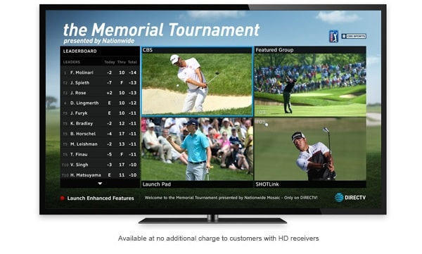 Exclusive PGA Golf Coverage on DIRECTV - The Memorial Tournament Mix Channel - Its All About Satellites