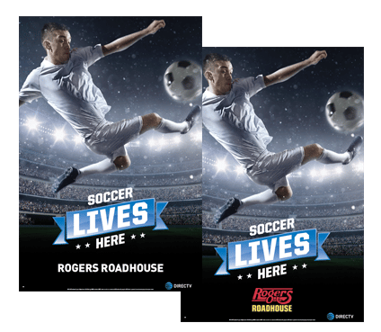 DIRECTV MVP Marketing Soccer Promotional Poster Its All About Satellites
