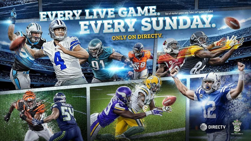 2018 NFL Sunday Ticket Only on DIRECTV