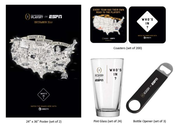 ESPN College Football Playoff merchandise on DIRECTV MVP Marketing Its All About Satellites DIRECTV for Bars and Restaurants