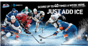 NHL CENTER ICE 8 foot banner on DIRECTV MVP MARKETING - Its All About Satellites DIRECTV for Bars and Restaurants