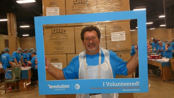 Barry at DIRECTV Revolution - Second Harvest Food Bank - Its All About Satellites