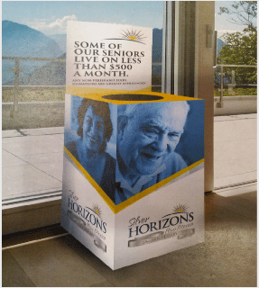 Silver Horizons Food Drive Box