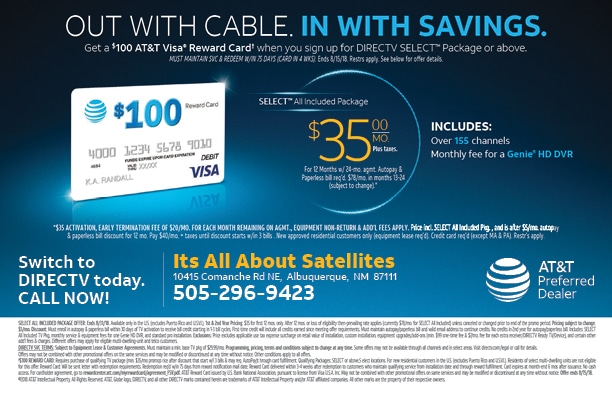 DIRECTV Residential Offer q3 2018 - Its All About Satellites - Authorized DIRECTV Dealer - DIRECTV for Your Home - DIRECT TV - DIRECTV Albuquerque