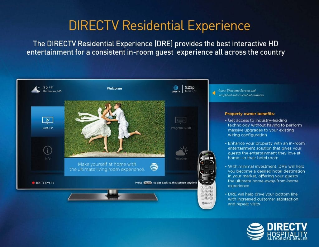TV for Hotels - DIRECTV Residential Experience DRE vs DRE Plus FSI Q4 2018