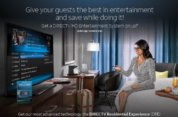 TV for Hotels - DIRECTV Residential Experience - Authorized DIRECTV Hospitality Dealer