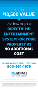 TV for RV Parks from Its all About Satellites - DIRECTV HD Entertainment System FREE Equipment Offer