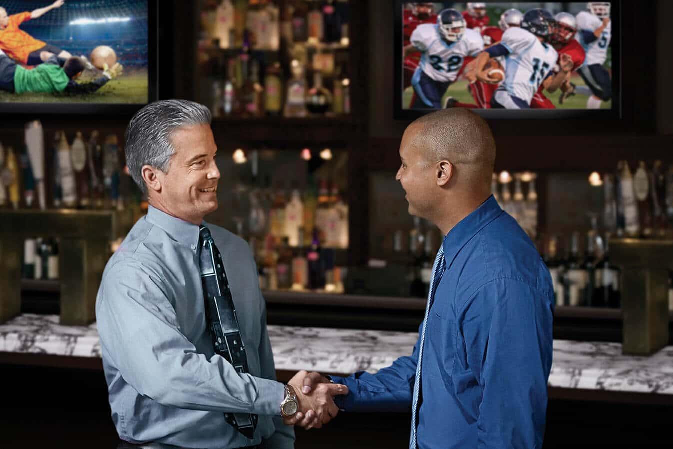 DIRECTV for Bars and Restaurants Mens Handshake