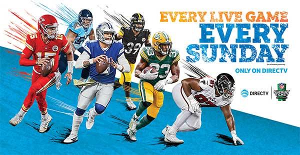 NFL Sunday Ticket 2020 - Only on DIRECTV