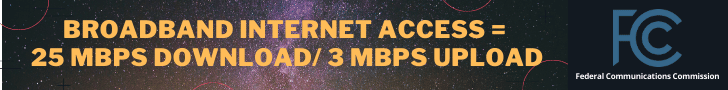 FCC Definition of Broadband Internet Access = 25 MBPS download and 3 mbps upload