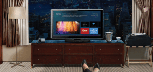 DIRECTV for Hospitality - Hotel room with DIRECTV AEP