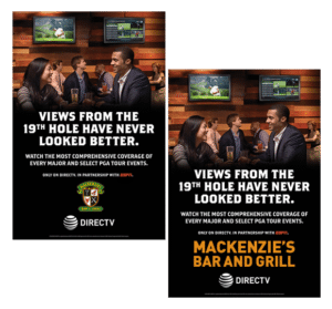 DIRECTV MVP MArketing Program Customizable Golf Poster Its All About Satellites - DIRECTV for Business Authorized Dealer