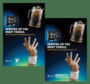 DIRECTV MVP MArketing Program Tennis Poster - Its All About Satellites - DIRECTV for Business Authorized Dealer