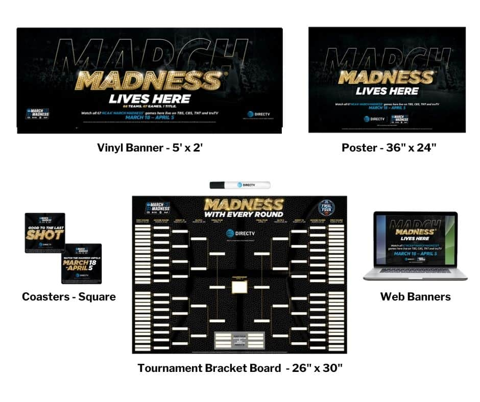 DIRECTV MVP Marketing March Madness Promotional Kit 2021 - Its All About Satellites