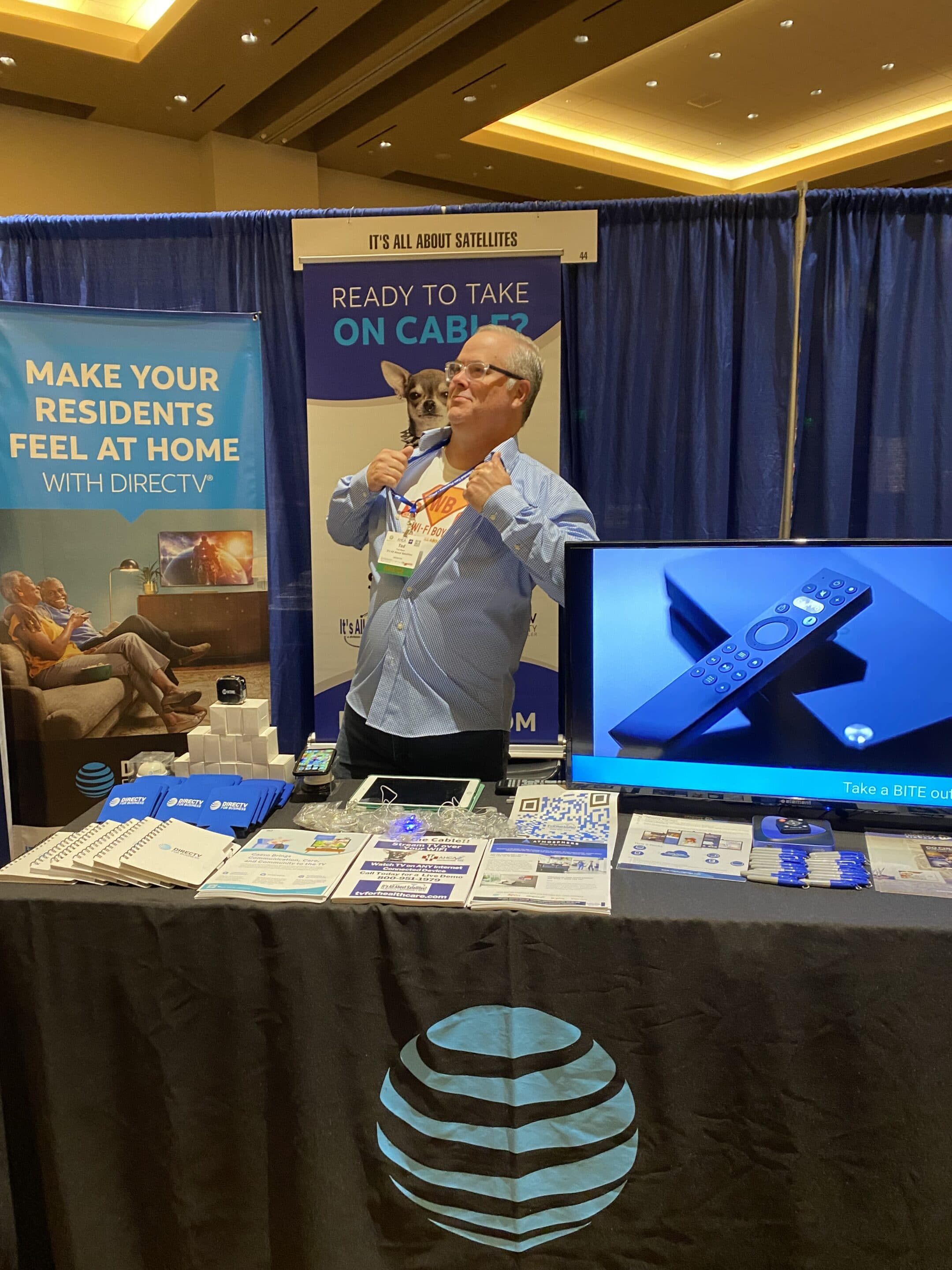 WiFi Boy Ted Maes of Its All About Satellites at the 2021 Arizona Healthcare Association Convention