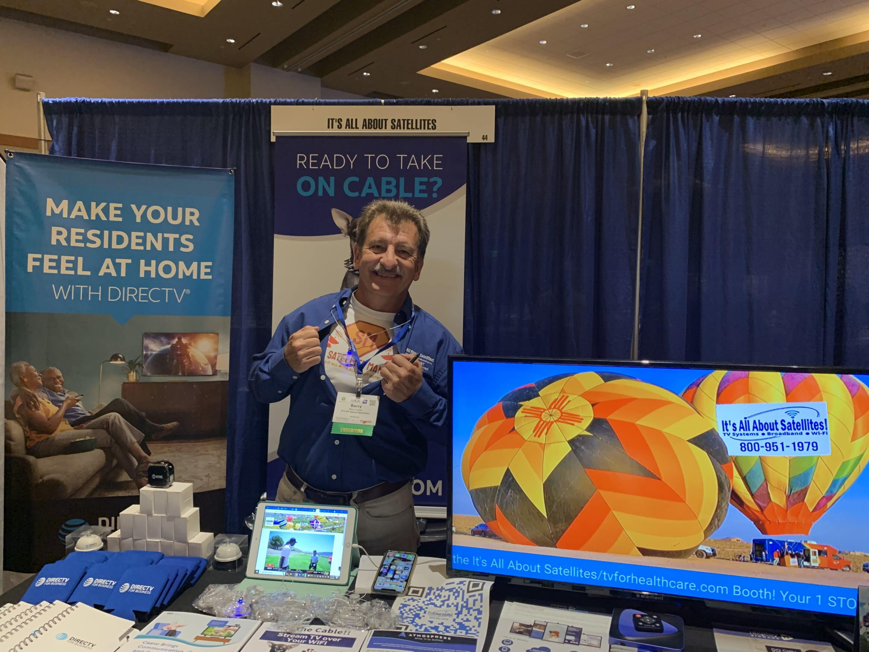 Satellite Man - Barry Conley of Its All About Satellites at the 2021 Arizona Healthcare Association Convention
