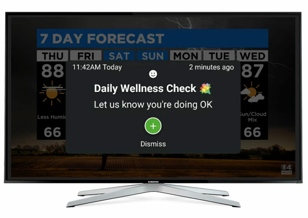 CAAVO TV-Connected Engagement System never disrupts whats on your TVs - From Its All About Satellites 800-951-1979